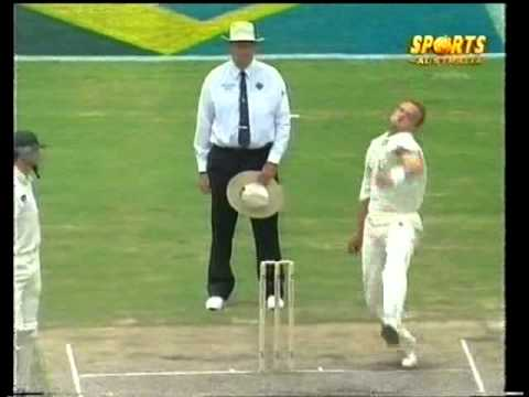 Allan Donald hostile spell to the Waugh brothers, 2nd test SCG 1997/98