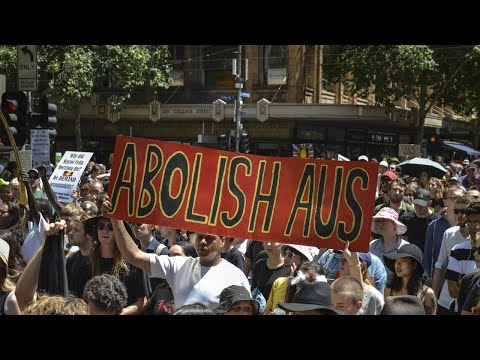 Thousands Gather To Protest Australia Day