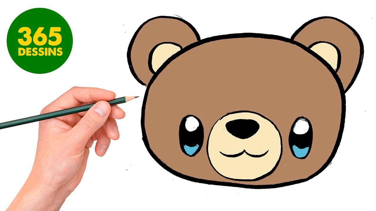 Comment Dessiner Ours En Peluche Kawaii étape Par étape Dessins Kawaii Facile
