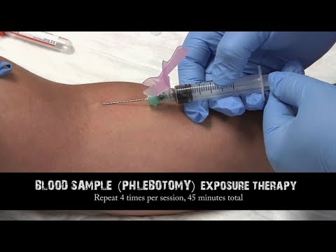 Blood drawing, blood sample exposure therapy