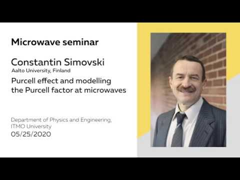 constantin-simovski:-microwave-seminar-at-the-department-of-physics-&-engineering,-itmo