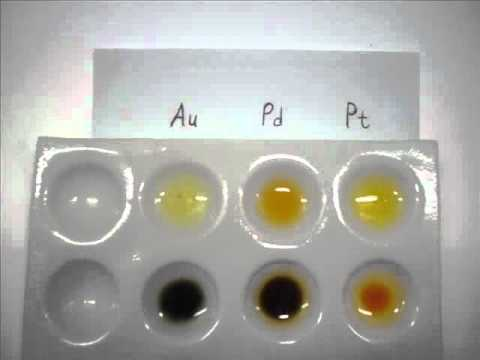 SnCl2 - A test for Gold, Platinum and Palladium in solution.