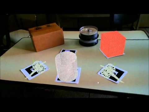 A Semi-automatic Approach to Mix Real and Virtual Objects for an Augmented Reality Game