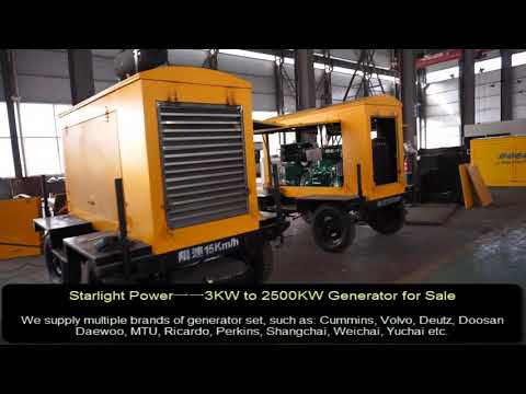Portable Generator, Mobile Generator, Movable Generator From 3KW To 2500KW