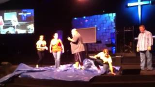 Nick and Shannon Chisler get pied in the face