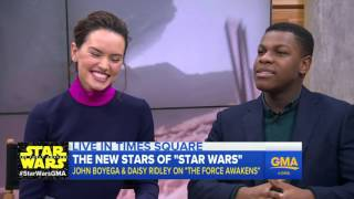 """'Star Wars: The Force Awakens"""" Interview with Daisy Ridley, John Boyega"""