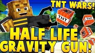 HALF LIFE GRAVITY GUNS MOD (TNT WARS)   Minecraft - Mod Battle