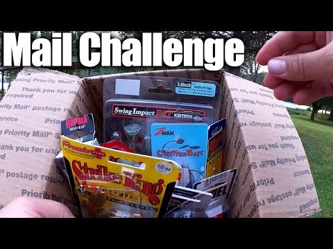Bass Fishing with Lures Sent to Realistic Fishing - Mail Challenge
