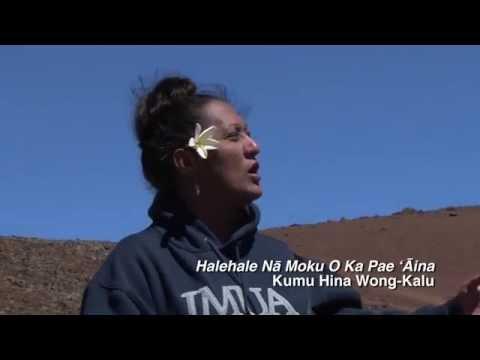 Kumu Hina chants at Mauna Kea
