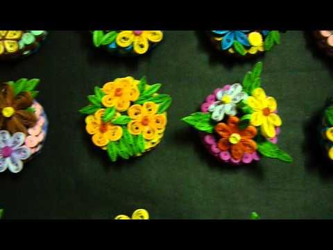 Giỏ hoa giấy cuộn /  Quilling basket