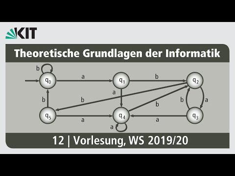 12: Theoretische Grundlagen der Informatik, Vorlesung, WS 2019/20