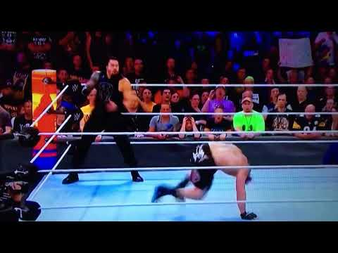 WWE back To back fake Superman punch by...