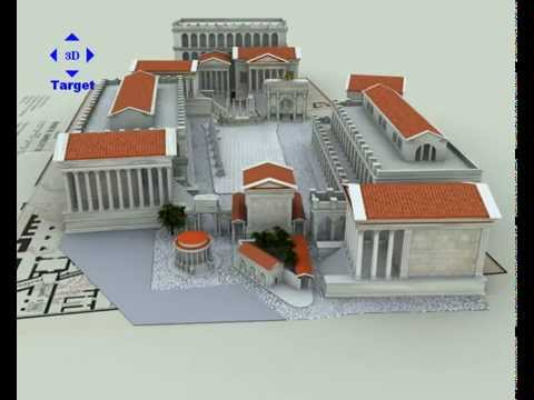 Roman Forum 3D buildings