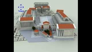 Roman Forum 3D buildings
