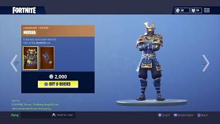 NEW MUSHA AND SHIRO SKIN WITH PRASIE THE TOMATO EMOTE IN Fortnite Battle Royale