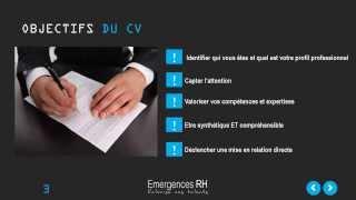 Comment rédiger un CV percutant (Atelier réalisé par le cabinet Emergences RH)