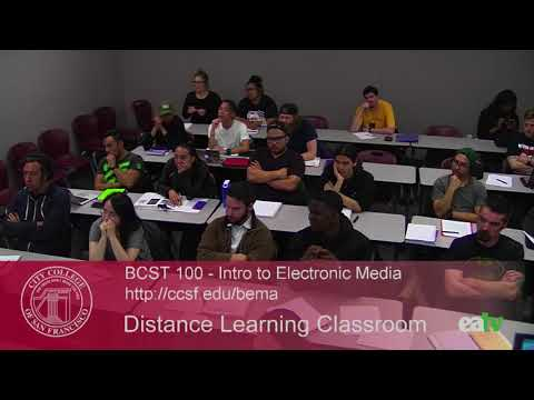 BCST 100 - Introduction to Electronic Media, August 24, 2017 Lecture