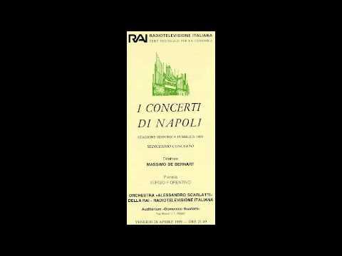Mozart Concerto K488 - Sergio Fiorentino - Massimo De Bernart - Orchestra Scarlatti - 1989