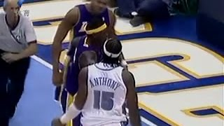 Young Camelo Anthony and Devean George fight