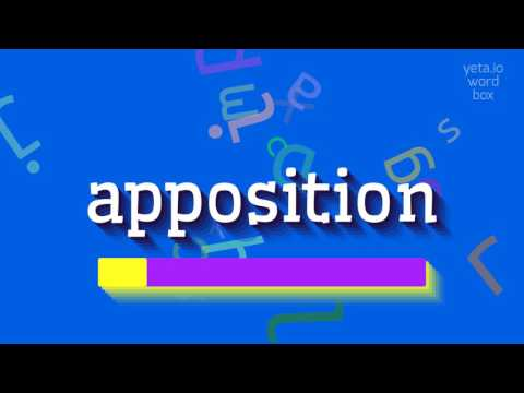 "How to say ""apposition""! (High Quality Voices)"