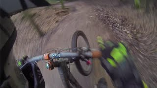 MTB high speed jump crash - epic face slide