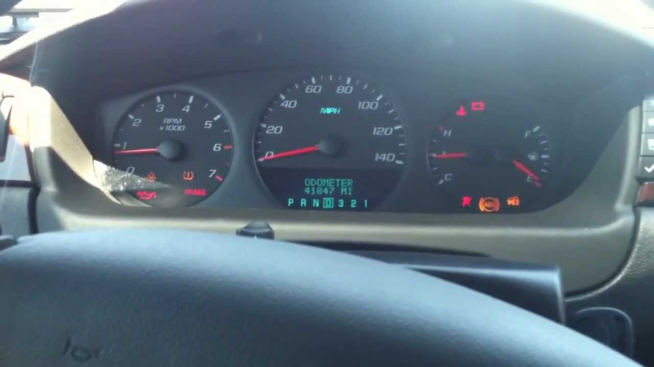 2009 Impala Instrument Cluster Issues Youtube