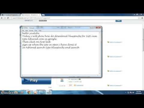 bluestacks download for 1GB ram