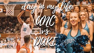College Day In My Life At Duke | Unc Vs Duke Basketball Game!!