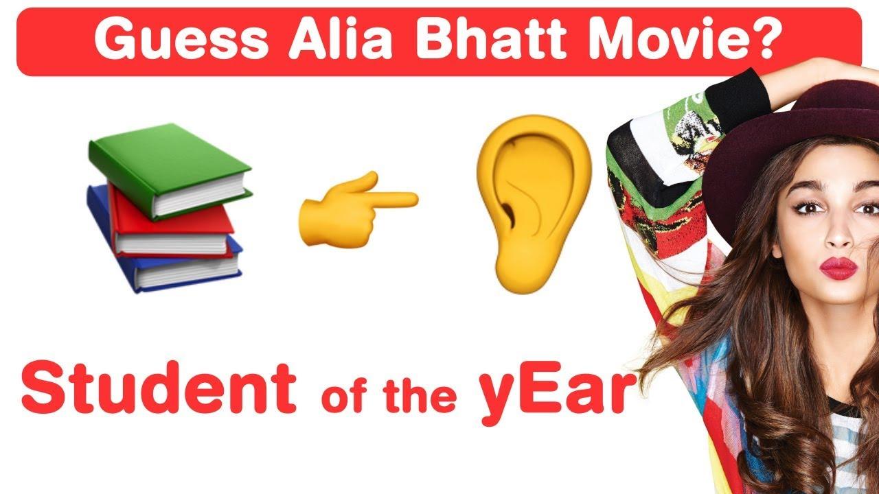 Alia Bhatt Emoji Challenge! Guess Bollywood Movies