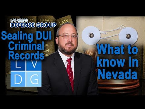 How long does a DUI stay on my criminal record in Nevada?