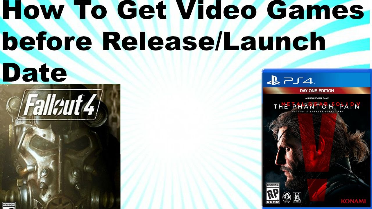Video games release dates