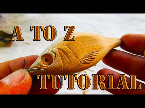 A To Z Lure Making Tutorial. Cherry Wood Jerk Bait High Details