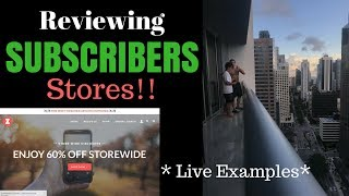 Reviewing Subscribers Stores! (Live Case Study)