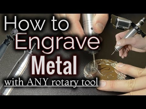 How To Engrave Metal With A Dremel Or ANY Rotary Tool