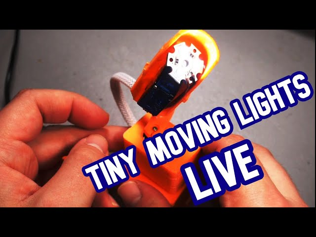 Demilight Livestream - Assembling Tiny DMX Moving Lights v0.9.1