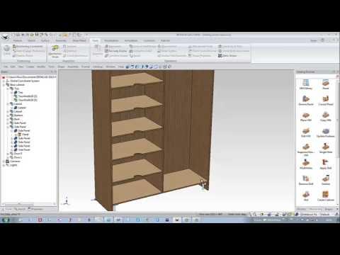 Uitzonderlijk IronCAD WoodLab CAD - Ontwerpen van kast met schuivende deuren VF98