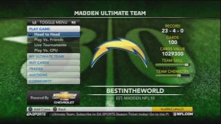 Madden 12 Ultimate Team - Time For Change [Ep.13]