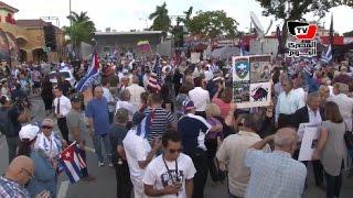 «الكوبيون المنفيون» علي يد «كاسترو» ينظمون احتفالات صاخبة في أمريكا