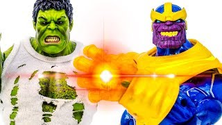 HULK vs. THANOS~! Green Hulk Protect The City From Fire To Save Kids~ Go Go Go - Toy Marvel