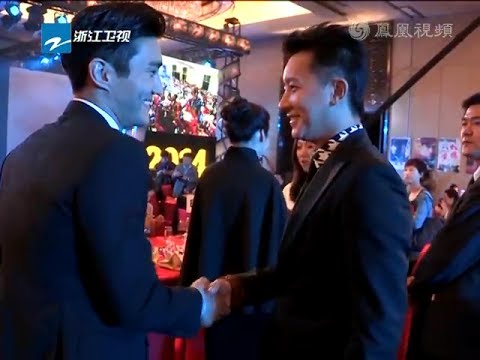 [Official Complete Version]HanGeng한경韩庚Hankyung and Siwon최시원 meet publicly & handshake in Beijing