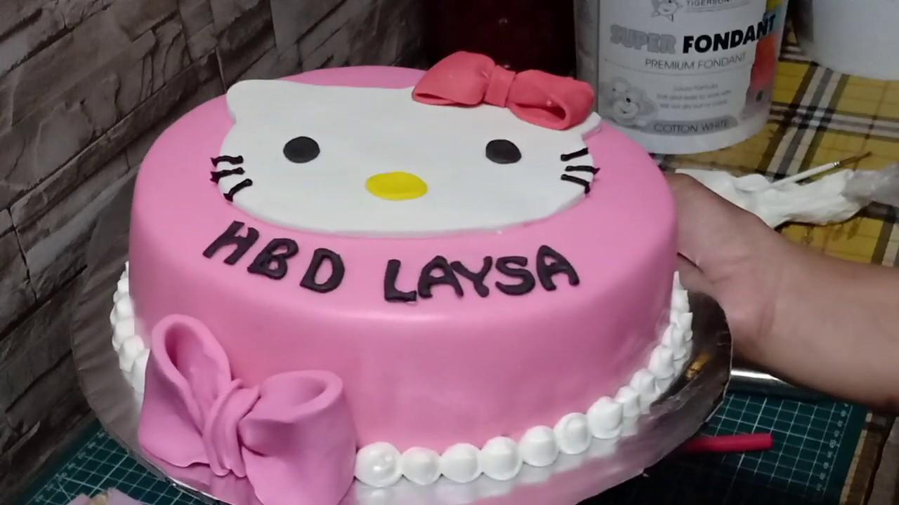 Cara Membuat Kue Ulang Tahun Hello Kitty Sederhana Dan Simple By Andin Cake