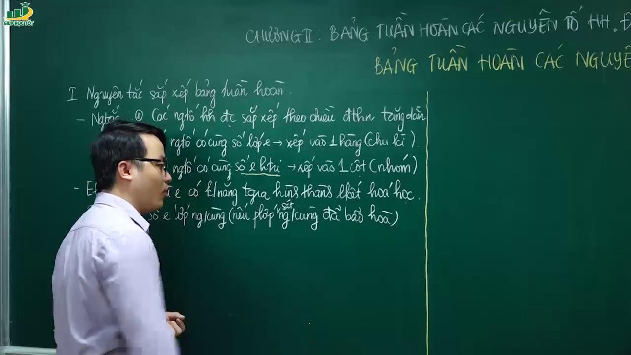 Hóa học lớp 10 – Bài giảng Bảng tuần hoàn các nguyên tố hóa học | Thầy Trần Thanh Bình
