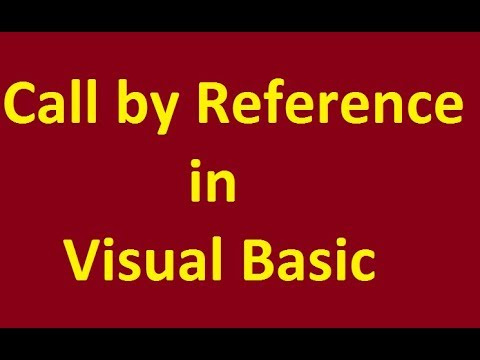 call by reference function  in