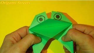 Как сделать лягушку из бумаги. Оригами лягушка из бумаги.