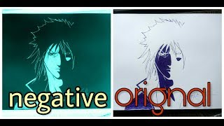 How to draw sasuke - naruto step by step