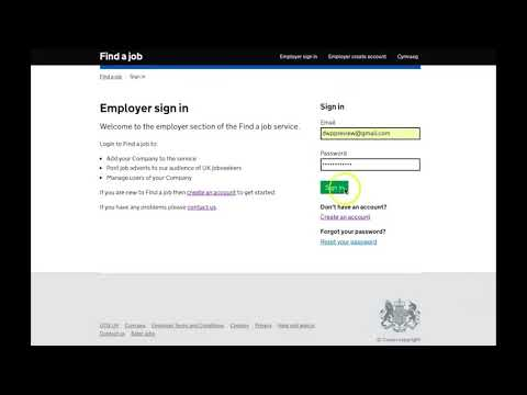 Find A Job - Login To Employer Account