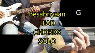 Besabriyaan Instrumental Cover with CHORDS ON SCREEN
