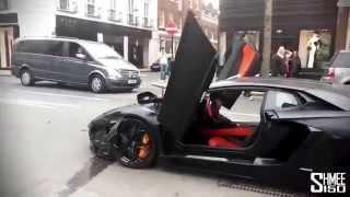 Cristiano Ronaldo and EXgirlfriend Crashed in  Lamborghini Aventador