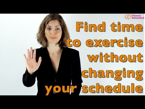 Finding the time to exercise...without having to mess with your schedule!