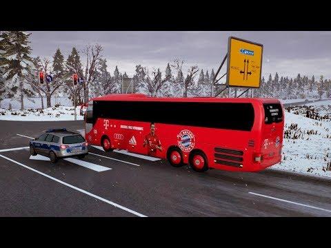Fernbus Simulator | Caminos Nevados rumbo a Múnich | MAN Lion's Coach